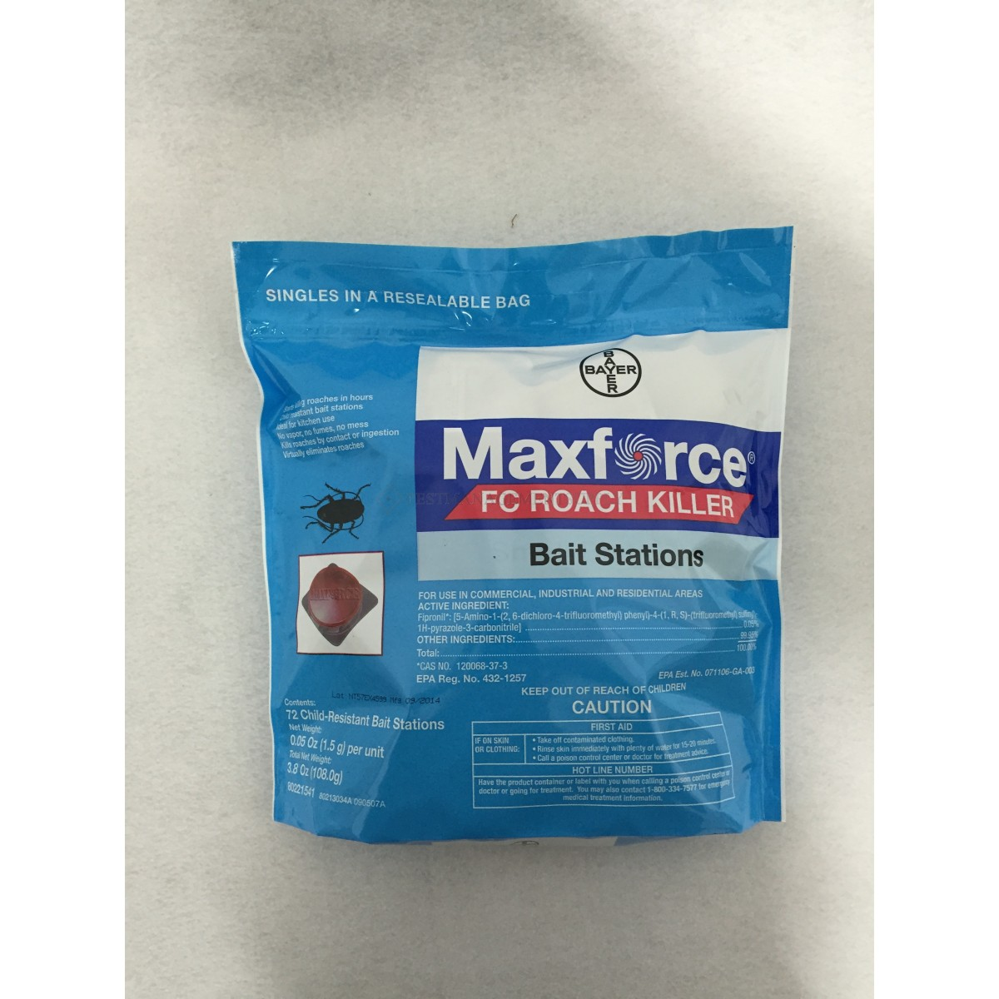Pest Management - MAXFORCE FC ROACH STATION 72/BAG