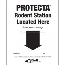 BELL LABS BAIT STATION LOCATOR WALL PLACARDS 50/PKG